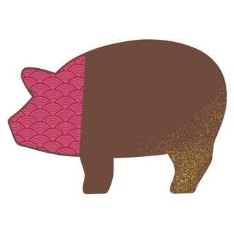 Pig chocolate pink