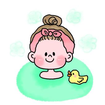 Shushu kifeng female bathing