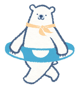 Floating ring polar bear