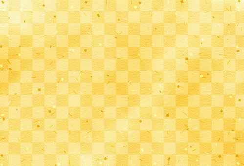 Japanese pattern background / checker / gold