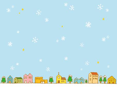 冬天的街道