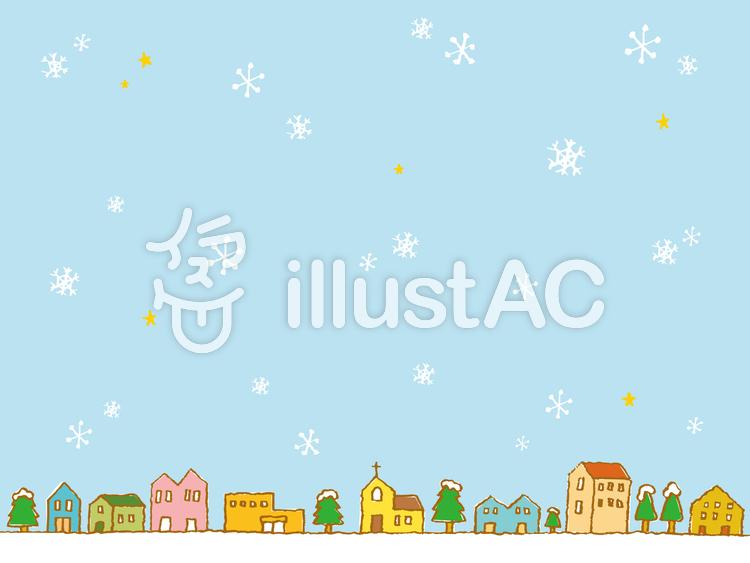 冬の町並みイラスト No 17343無料イラストならイラストac