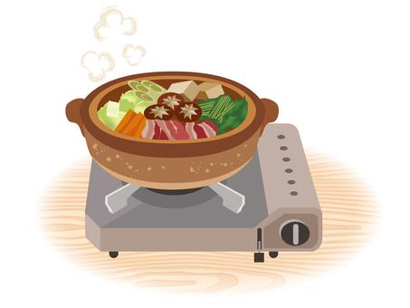 Sukiyaki _ Cassette stove