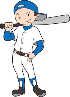 野球くん立ちポーズ3