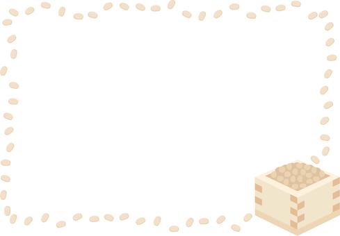 Setsubun's bean flour frame