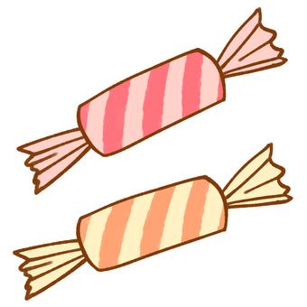사탕 (스트라이프 / 핑크)