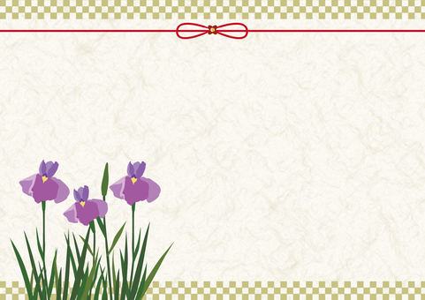 Japanese background material of iris grapes (1)