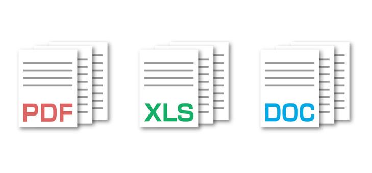 PDF, 엑셀, 워드 아이콘