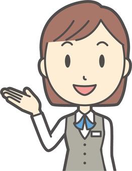 事務員ボブ女性-148-バスト