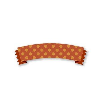 Polka dotted ribbon (Brown)