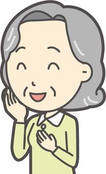 노인 밥 여성 -244- 가슴