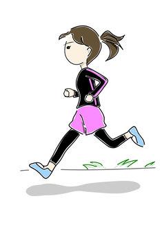 Jogging ladies