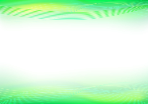 Green abstract wavy line background material