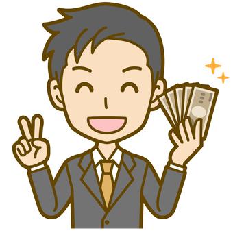 Male (office worker): B_ money 04 BS