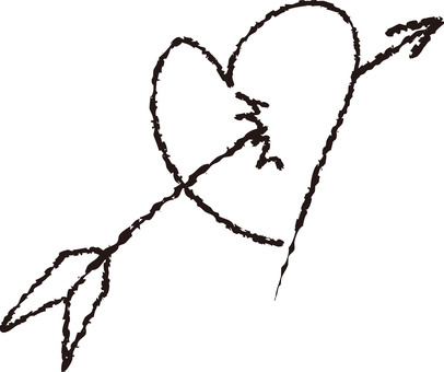 Heart with arrows (black)