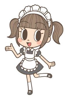 Twin tailed maid