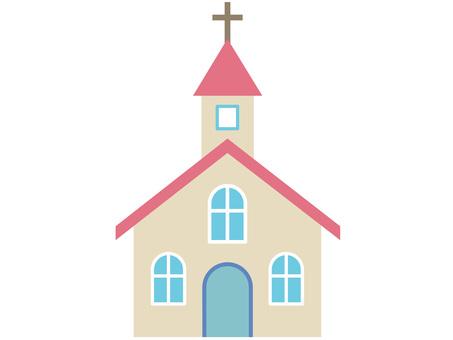 60128. Church, Pink