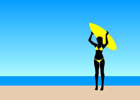 서핑 여자 7