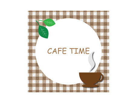 Illustration material of cafe