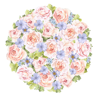 Flower circle 1 - rose and cherry blossom color flower circle