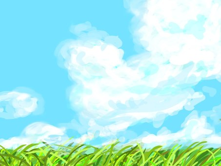 Sky and wild grass ☆