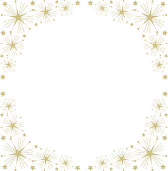 Star frame (gold frame 14)
