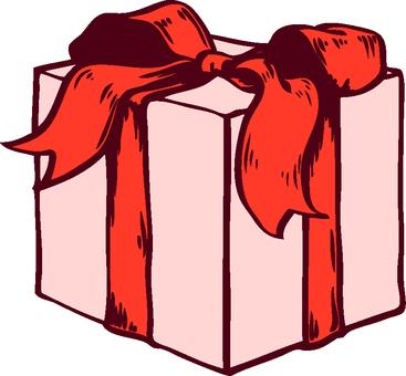 펜 화풍 리본 매듭 상자 선물 3