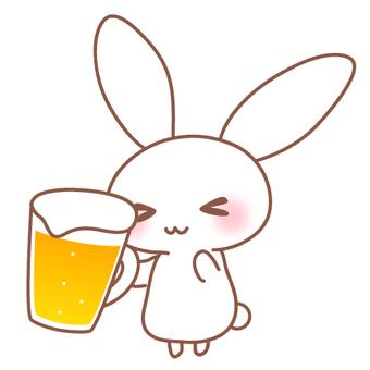맥주와 토끼의 일러스트 컷 ③