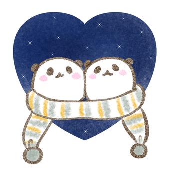 Yuru Panda Heart / Night Sky