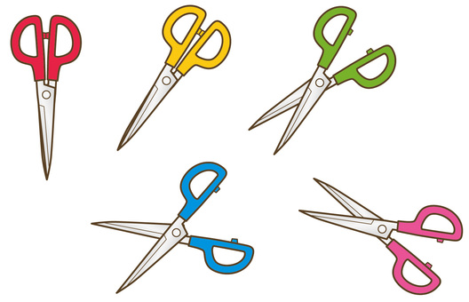 Right handed scissors