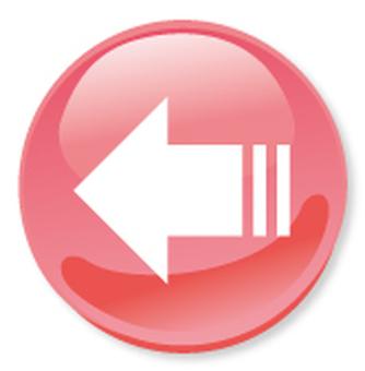 Icono de flecha - cereza