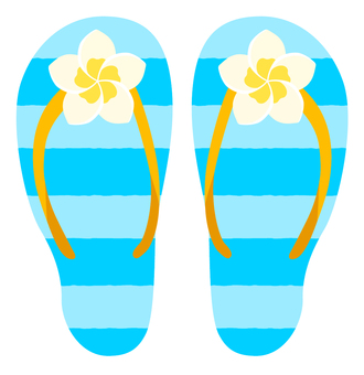 Beach sandal (Plumeria)