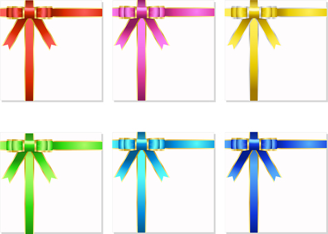 ai 6 color gold ribbon