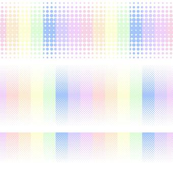 ドットグラデーション7・虹