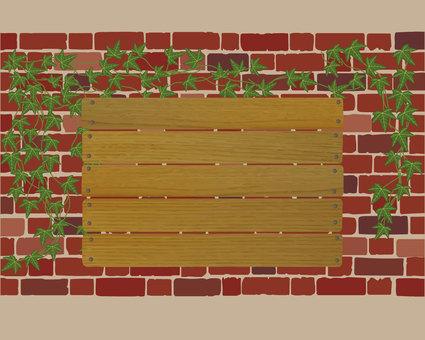 Brick wall ivy