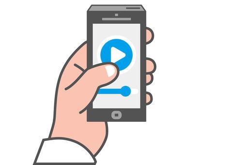 手操作智能手機(電影回放)
