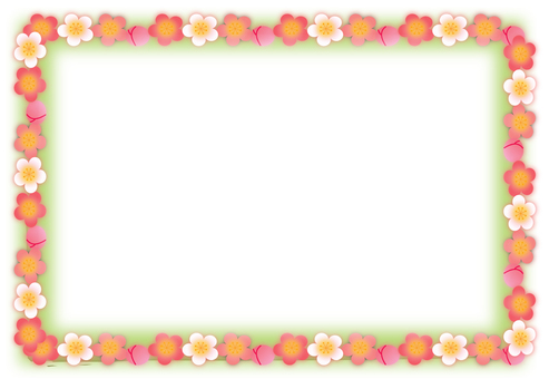 梅花框架綠色