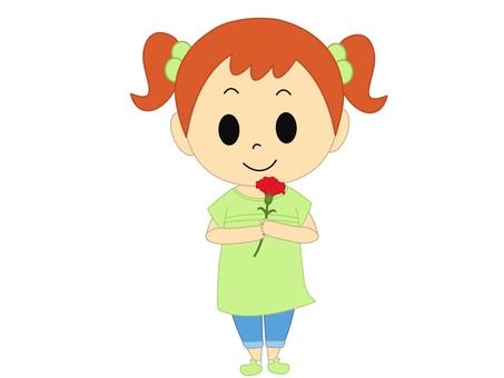 康乃馨綠色的女孩