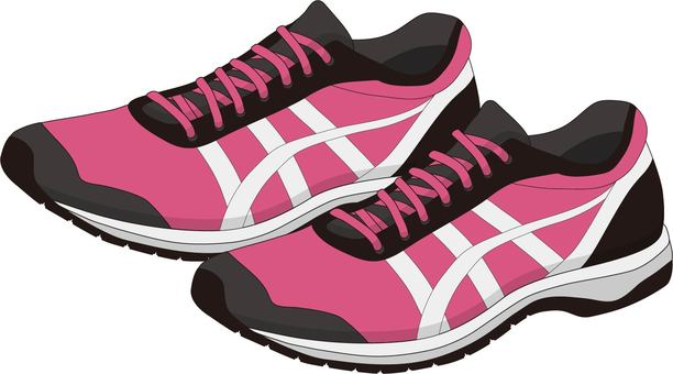 Jogging shoes pink