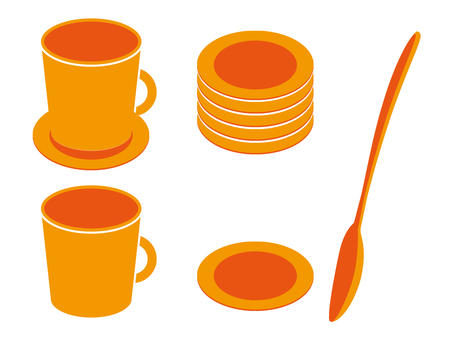 Coffee cup · spoon · coaster 09