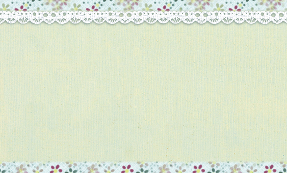 Message card flower pattern lace green