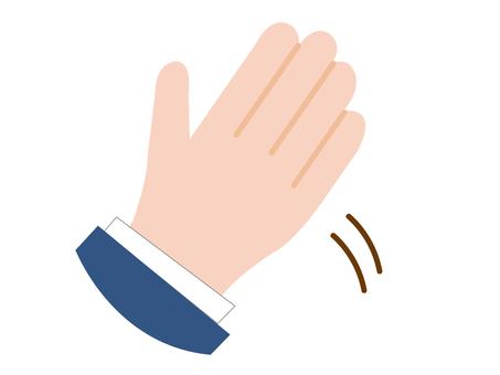 手をふる人
