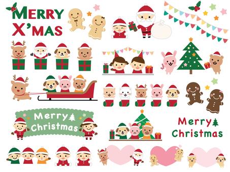 聖誕節可愛的插圖2