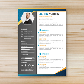 Business template resume 1