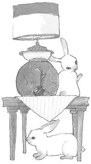 Usagi in black and white monochrome study
