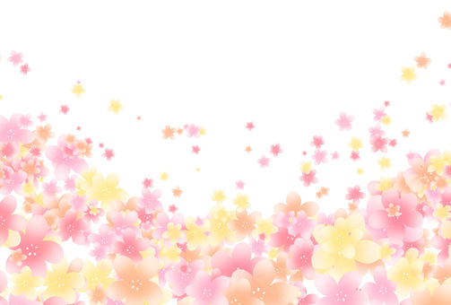 Flower Postcard Background Material Pink Postcard Size