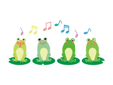 Frog chorus ♪