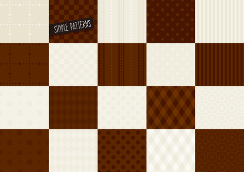 Simple pattern set BROWN
