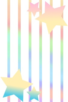 Colorful stripes and stars