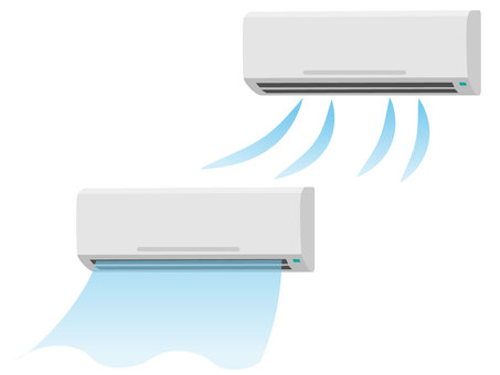 Air conditioner cold air 2 kinds